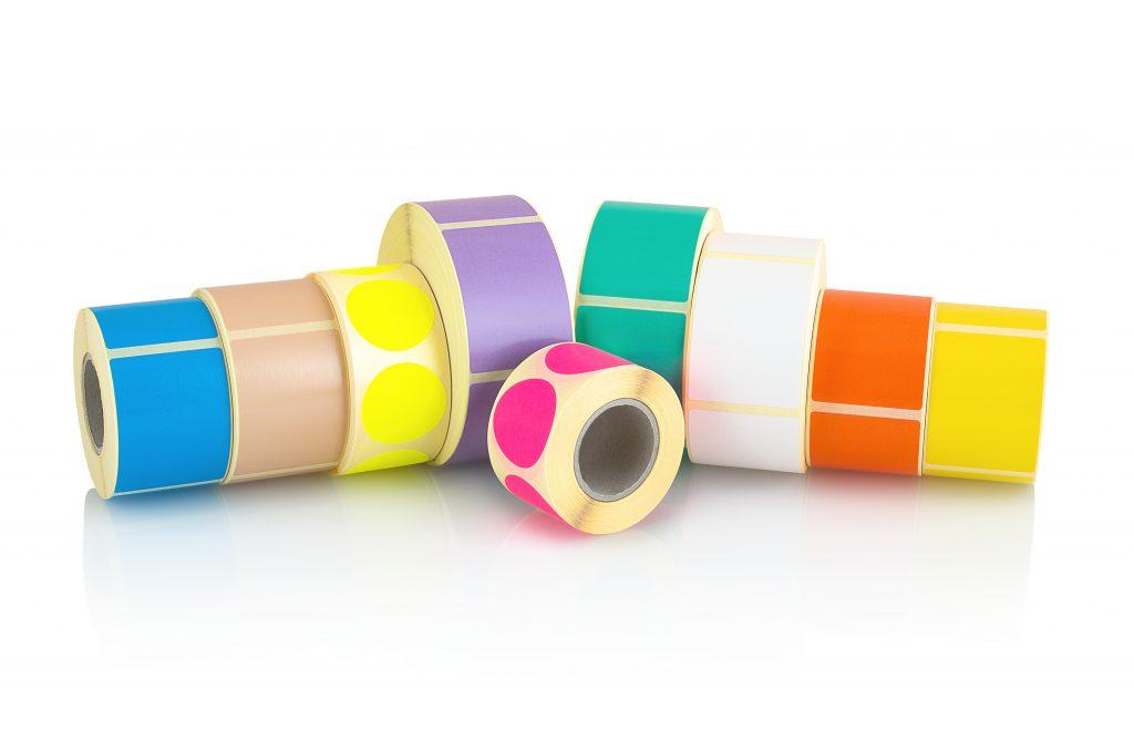 Etykiety kolorowe i białe Efprinta